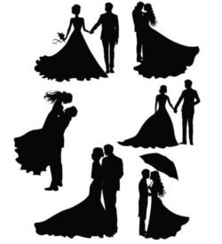 Happy wedding file cdr and dxf free vector download for Laser cut Plasma