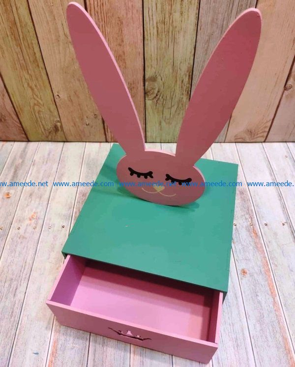 Hare box file cdr and dxf free vector download for Laser cut