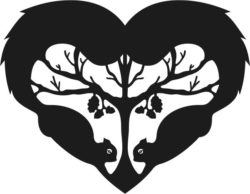Heart with two squirrels file cdr and dxf free vector download for Laser cut