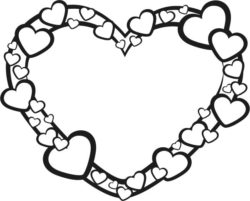 Heart wreath file cdr and dxf free vector download for Laser cut