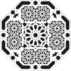 Hexagon decoration file cdr and dxf free vector download for CNC cut