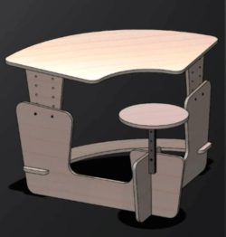 Kid table file cdr and dxf free vector download for Laser cut