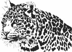 Leopard lurking file cdr and dxf free vector download for laser engraving machines