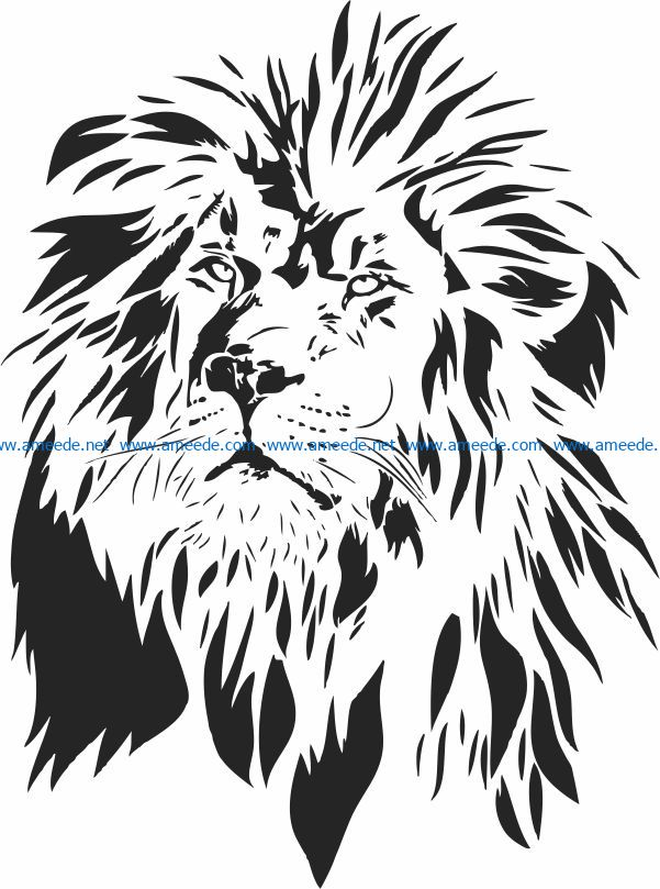 Lion King file cdr and dxf free vector download for laser engraving machines