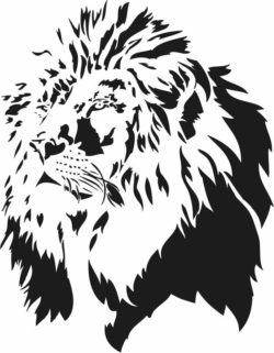 Lion head file cdr and dxf free vector download for laser engraving machines
