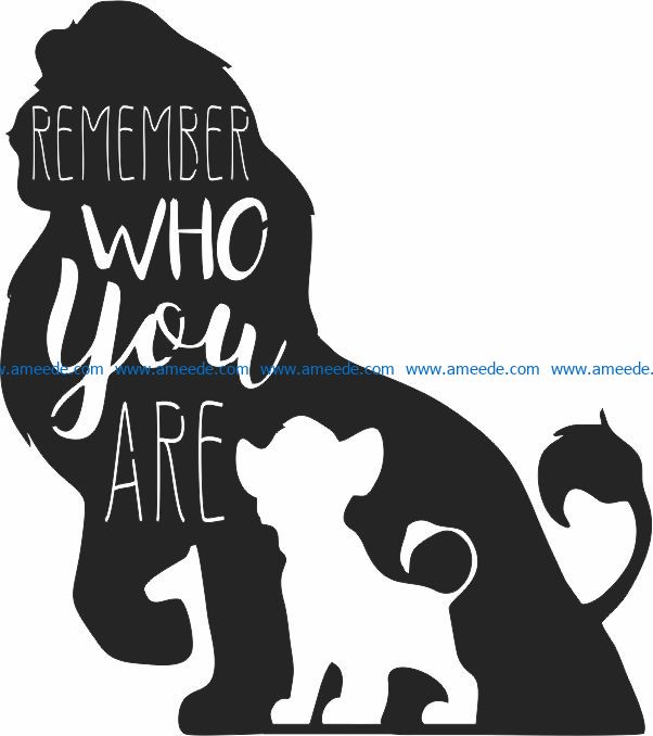Lion king file cdr and dxf free vector download for Laser cut CNC