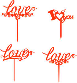 Love toppers file cdr and dxf free vector download for Laser cut