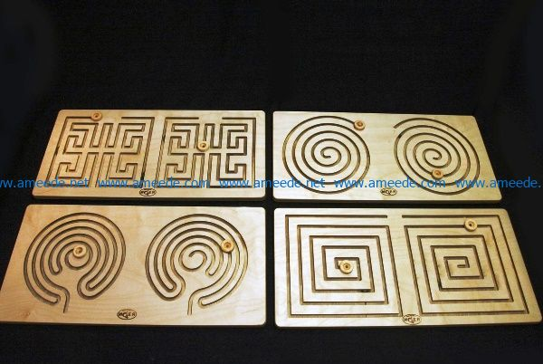 Maze simulator file cdr and dxf free vector download for laser engraving machines