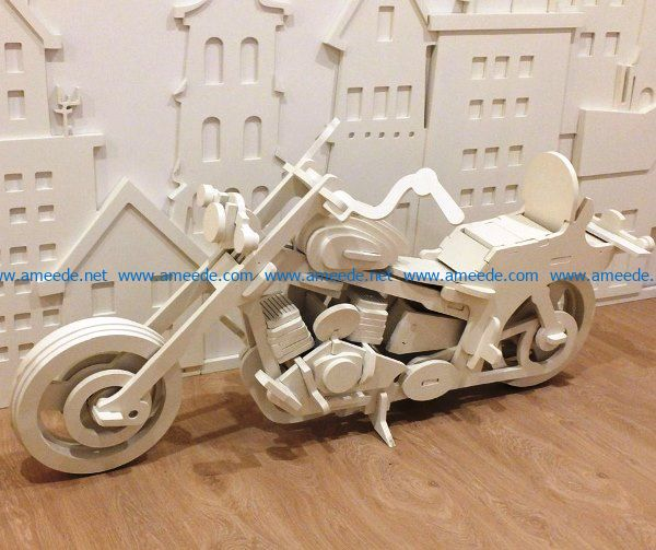 Motorcycle model file cdr and dxf free vector download for Laser cut