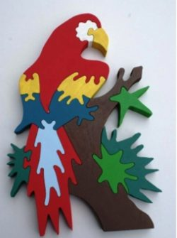 Parrot puzzle file cdr and dxf free vector download for Laser cut