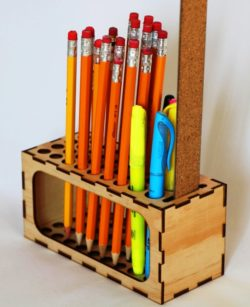 Pencil organizer file cdr and dxf free vector download for Laser cut