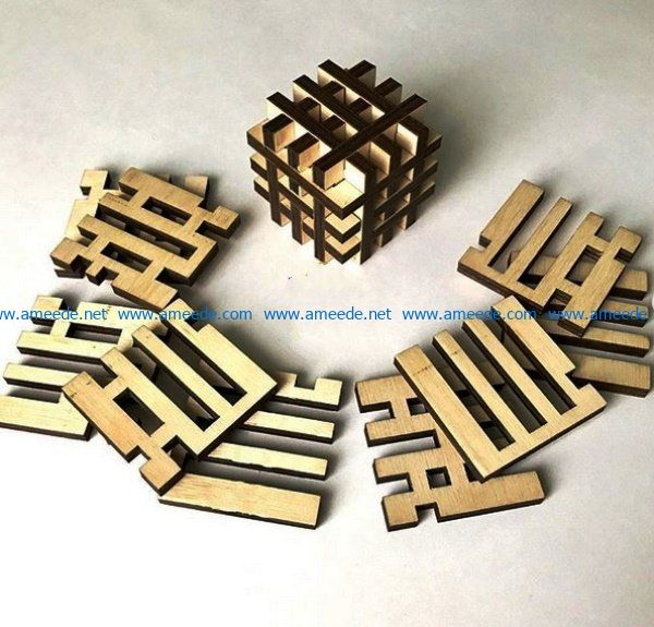 Puzzle file cdr and dxf free vector download for Laser cut