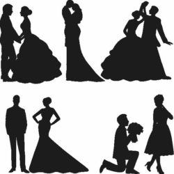Romantic wedding file cdr and dxf free vector download for Laser cut Plasma
