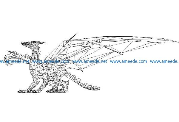 Flying Dinosaur file cdr and dxf free vector download for laser engraving machines