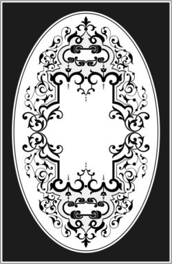 Square and oval frames file cdr and dxf free vector download for laser engraving machines