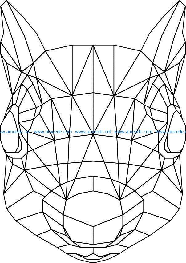 Squirrel head 3d murals file cdr and dxf free vector download for Laser cut Plasma