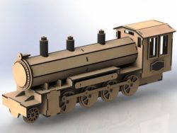 Steam locomotive trailers file cdr and dxf free vector download for Laser cut