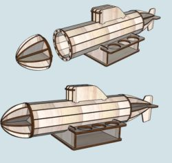 Submarine file cdr and dxf free vector download for Laser cut
