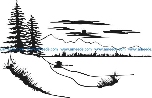 The picture of nature file cdr and dxf free vector download for Laser cut Plasma