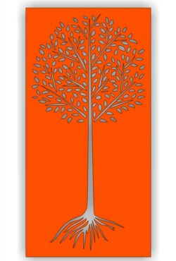 Tree file cdr and dxf free vector download for Laser cut