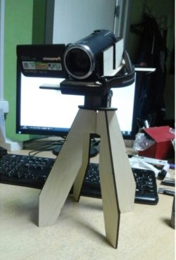 Tripod for video camera file cdr and dxf free vector download for Laser cut
