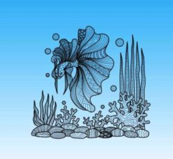 Under the sea file cdr and dxf free vector download for laser engraving machines