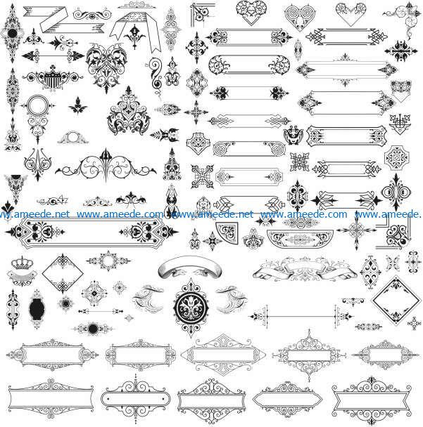 Unique decorative element file cdr and dxf free vector download for laser engraving machines