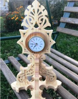 Unique wooden clock file cdr and dxf free vector download for CNC cut