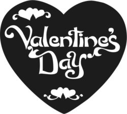 Valentines day heart file cdr and dxf free vector download for Laser cut