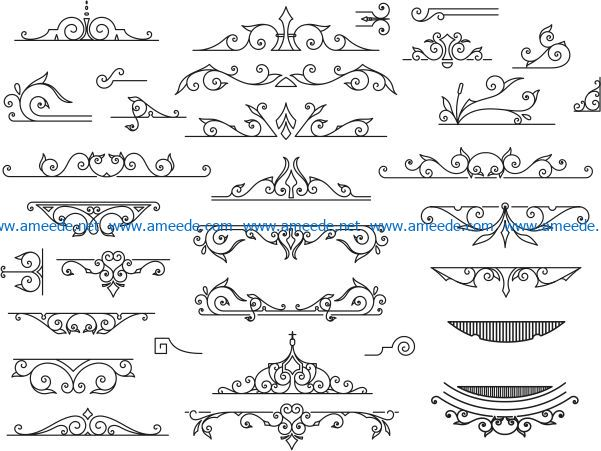 Vintage Element file cdr and dxf free vector download for laser engraving machines