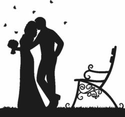 Wedding in the park file cdr and dxf free vector download for Laser cut Plasma