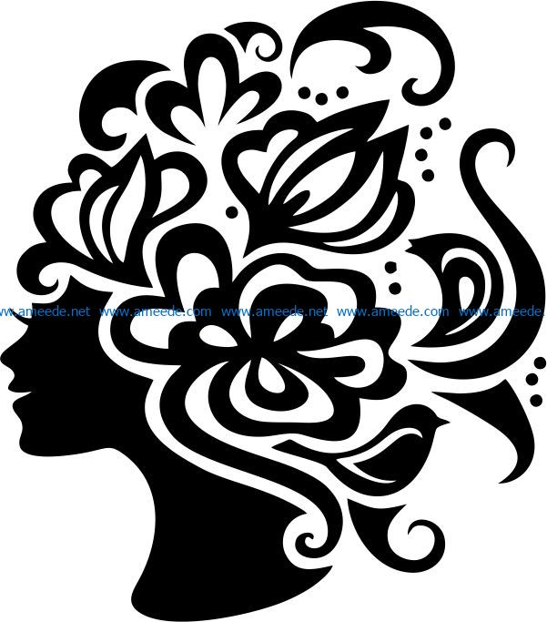 Woman symbol file cdr and dxf free vector download for laser engraving machines