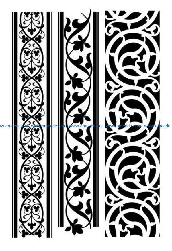 Wood carving art pattern file cdr and dxf free vector download for Laser cut CNC