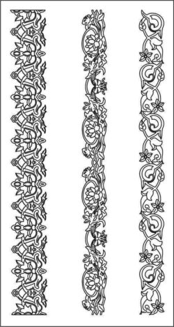 Wood carving patterns file cdr and dxf free vector download for CNC cut