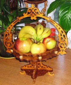 Wooden fruit basket file cdr and dxf free vector download for Laser cut