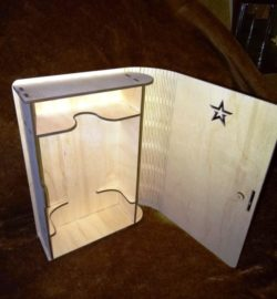 Woody Box file cdr and dxf free vector download for Laser cut
