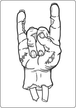 Zombie hand file cdr and dxf free vector download for laser engraving machines