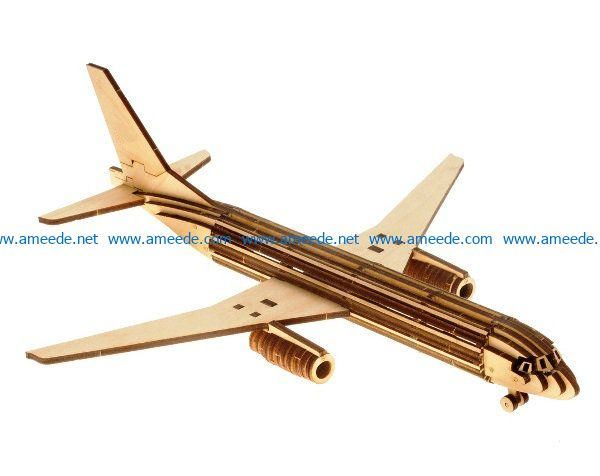 aircraft MS21 file cdr and dxf free vector download for Laser cut