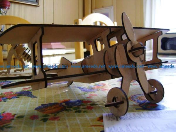 aircraft model file cdr and dxf free vector download for Laser cut