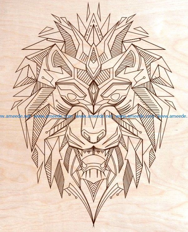 art lion file cdr and dxf free vector download for laser engraving machines