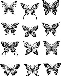 beautiful butterfly file cdr and dxf free vector download for laser engraving machines