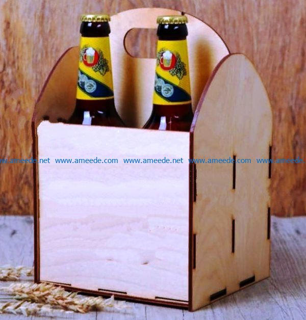 beer box file cdr and dxf free vector download for Laser cut