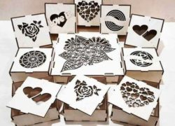 box for chocolates file cdr and dxf free vector download for Laser cut