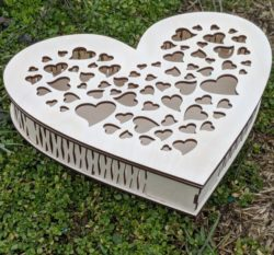 cute heart box file cdr and dxf free vector download for Laser cut