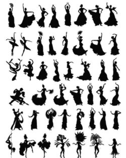 dance silhouette file cdr and dxf free vector download for Laser cut