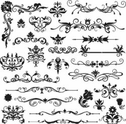 decor elements file cdr and dxf free vector download for Laser cut