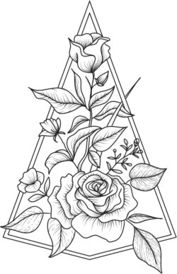 decoration rose  file cdr and dxf free vector download for laser engraving machines