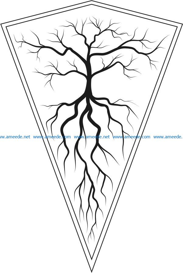 decoration tree file cdr and dxf free vector download for Laser cut