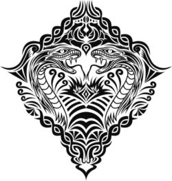 ethnic snake file cdr and dxf free vector download for print or laser engraving machines