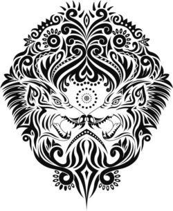 ethnic wolf file cdr and dxf free vector download for print or laser engraving machines